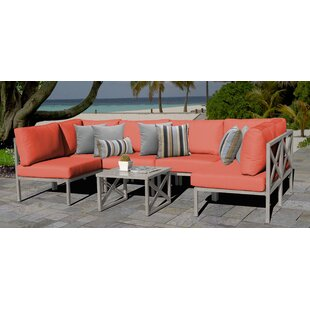 Carlisle Outdoor 7 Piece Sectional Seating Group with Cushions