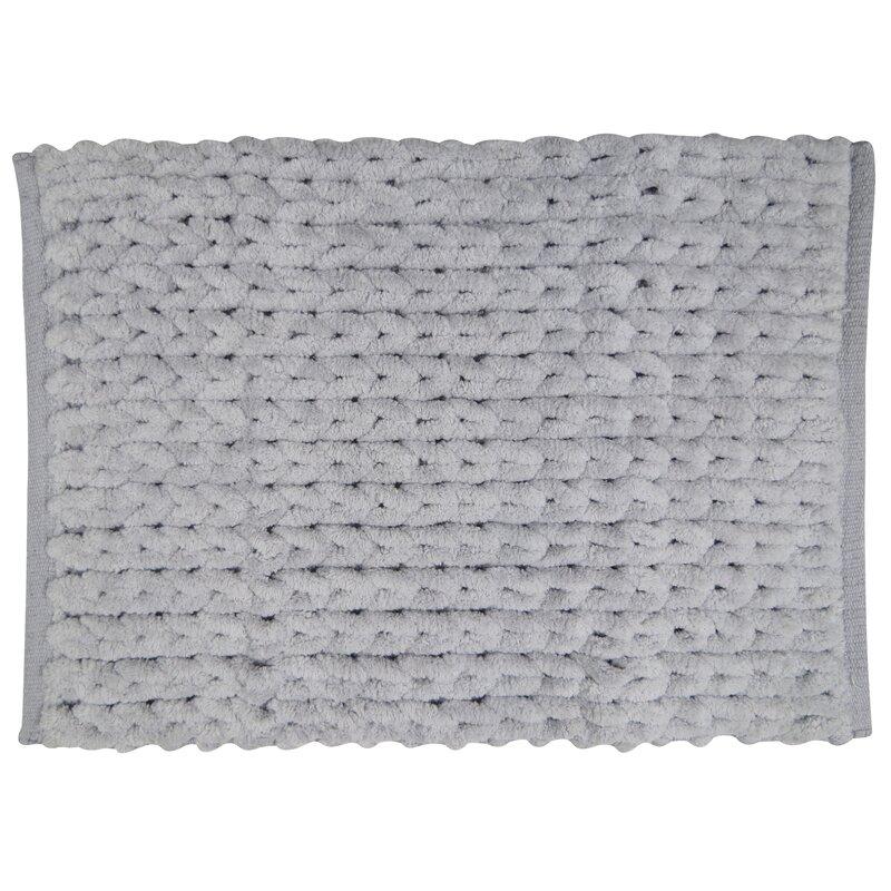 Texture Embroidery Bath Rugs Mats Youll Love Wayfair - Black chenille bath rug for bathroom decorating ideas