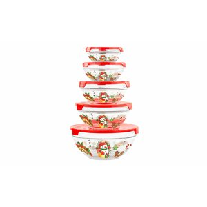 Glass 5 Container Food Storage Set
