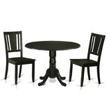 Sosa Drop Leaf Solid Wood Dining Set by Charlton Home®