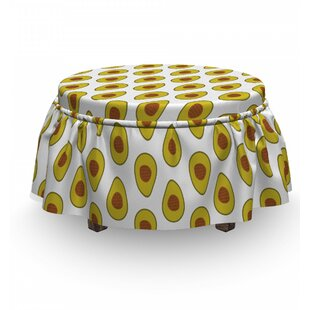 Exotic Tropical Composition Ottoman Slipcover (Set Of 2) By East Urban Home
