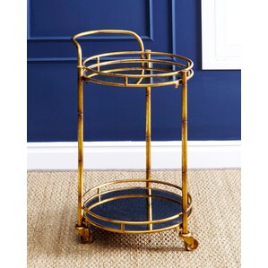 Herald 2 Tier Cylinder Bar Cart by Willa Arlo In..