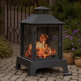 Sunjoy Pineville Steel Wood Burning Pagoda