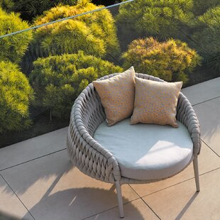 Fabulous Partlow Round Patio Chair With Sunbrella Cushions Frankydiablos Diy Chair Ideas Frankydiabloscom