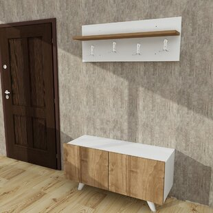 Galeana Modern Wall Mounted Coat Rack by Ivy Bronx