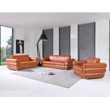 3 Piece Genuine Leather Standard Living Room Set by Global United