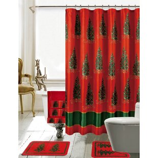 "Rustic Wooden Boards Xmas Stars Pine Cones Shower Curtain Set Bathroom Decor 72/"""