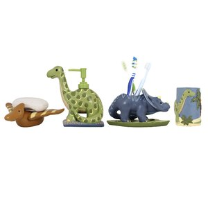 Dinosaur Kids 4-Piece Bathroom Accessory Set