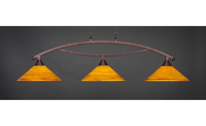 Fleur De Lis Living Blankenship 3 Light Pool Table Cone Pendant Wayfair
