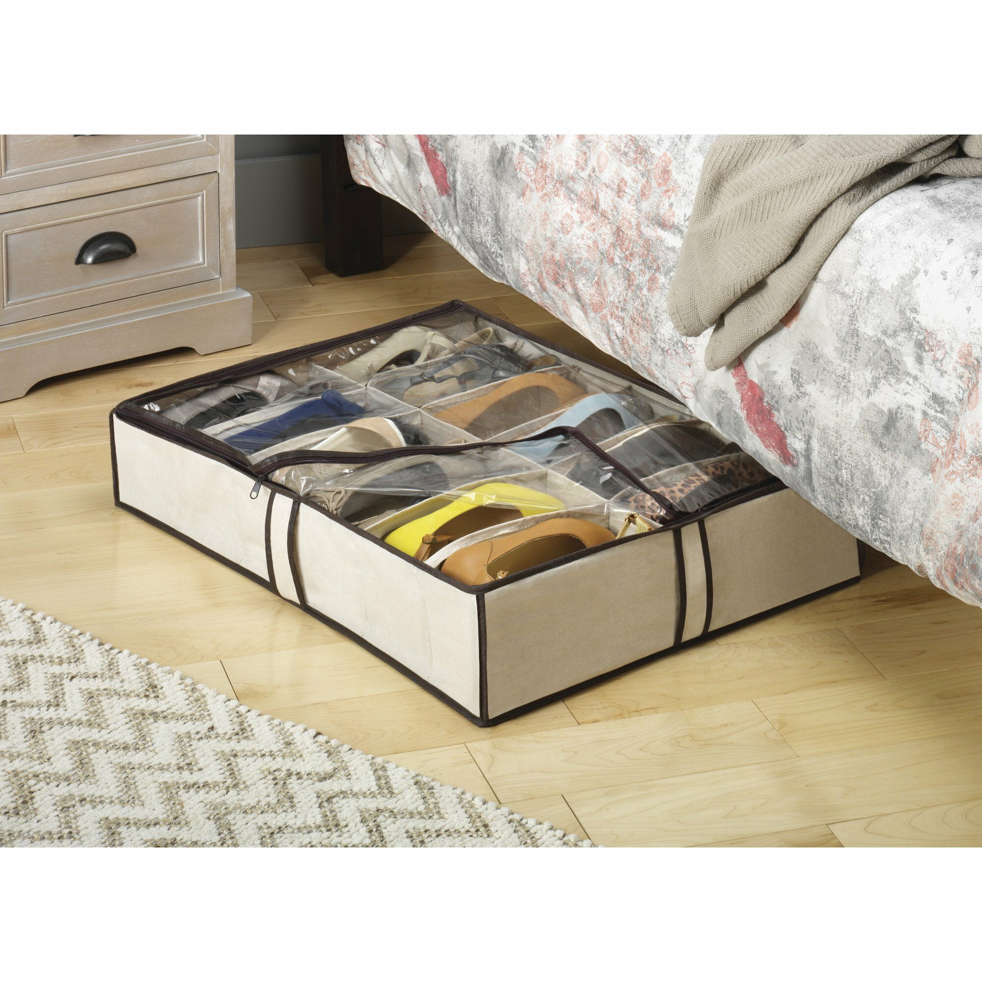 Fabric Underbed Shoe Storage