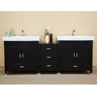 Ramsey 81 Double Bathroom Vanity Set by Bellaterra Home