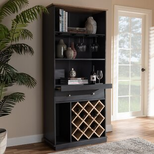 Winston Porter Falcon Bar with Wine Storage