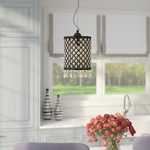 House of Hampton Carbon 1-Light Drum Pendant