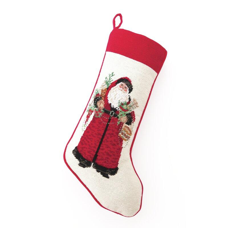 The Holiday Aisle Christmas Gone By Needlepoint Stocking Birch Lane