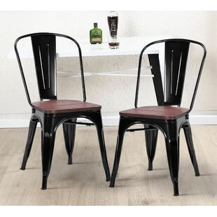 Dedrick Tolix Stackable Patio Dining Chair (Set of 2)