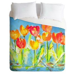 East Urban Home Tulips Duvet Cover Set