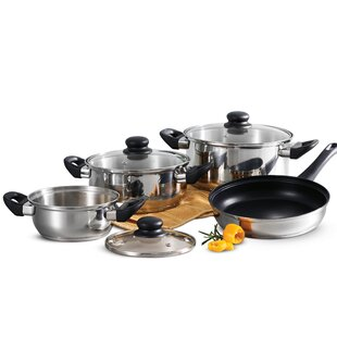 Primaware 7 Piece Non-Stick Stainless Steel Cookware Set