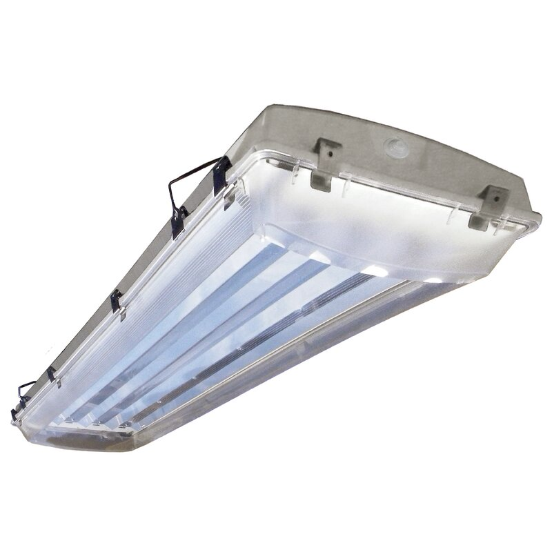 6 Fluorescent Light Fixture: Howard Lighting 6-Light Vapor Proof High Bay Fluorescent