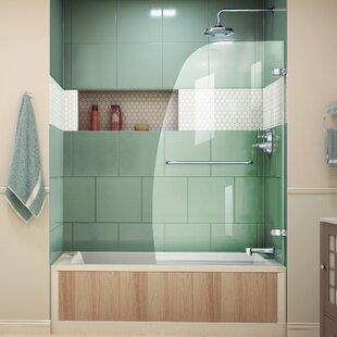 Aqua Uno 34.31 x 58 Pivot Frameless Tub Door ByDreamLine