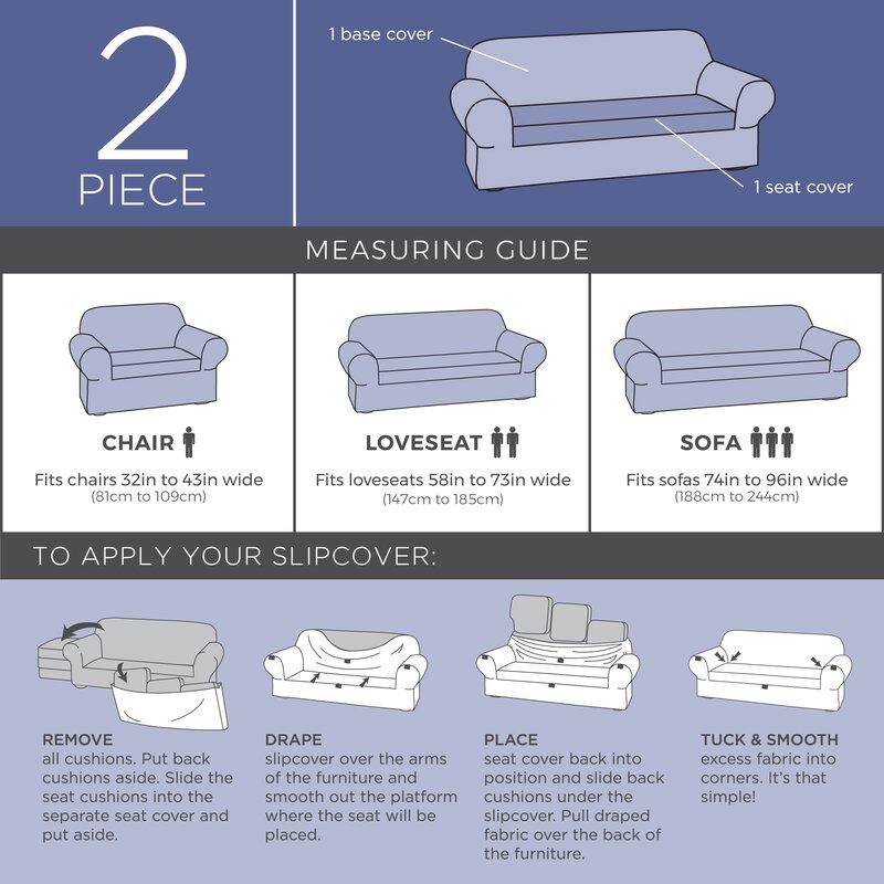 Seat Box Cushion Loveseat Slipcover