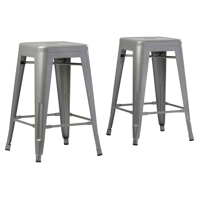 Delavan 24  Bar Stool  sc 1 st  Wayfair : 24 metal bar stools - islam-shia.org