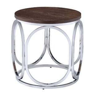 Compare prices Gahanna Round End Table by Ivy Bronx