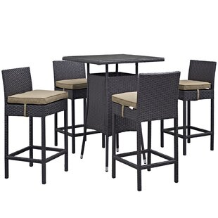 Latitude Run Ryele 5 Piece Bar Height Dining Set
