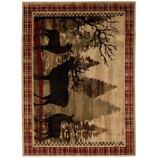 Coupon Rebekah Red/Black Area Rug By Millwood Pines