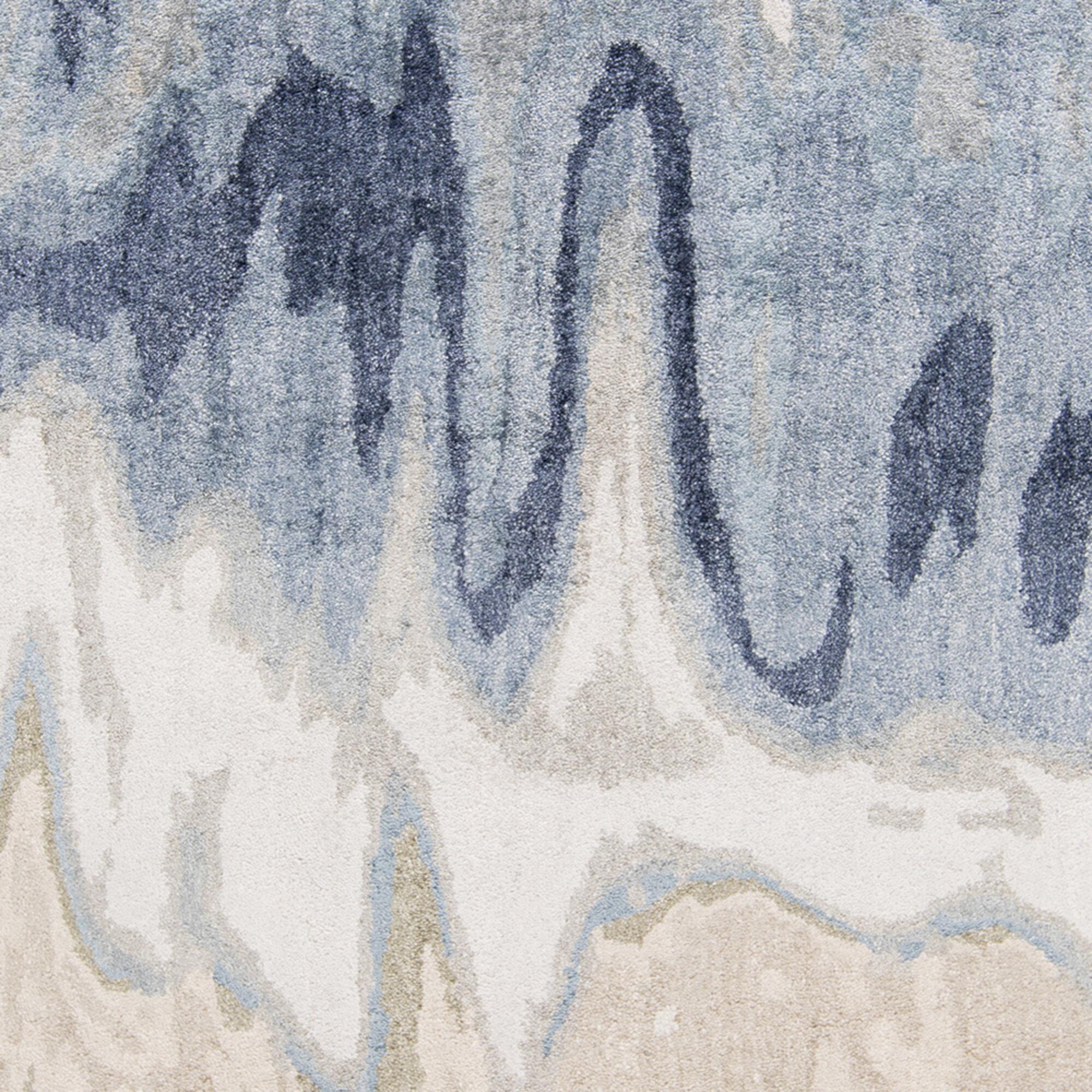 Surya Gemini Abstract Hand Tufted Blue Beige Area Rug Perigold