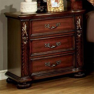 Claudia 3 Drawer Nightstand by Astoria Grand