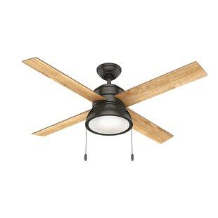 52 Loki 4 Blade LED Ceiling Fan, Light Kit Included by Hunter Fan