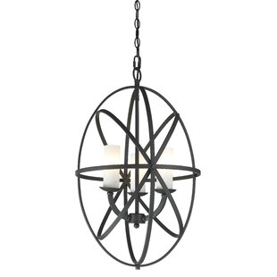 Ivy Bronx Fridley 3-Light Globe Chandelier