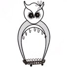 Ebern Designs Owl Display Metal Jewelry Stand