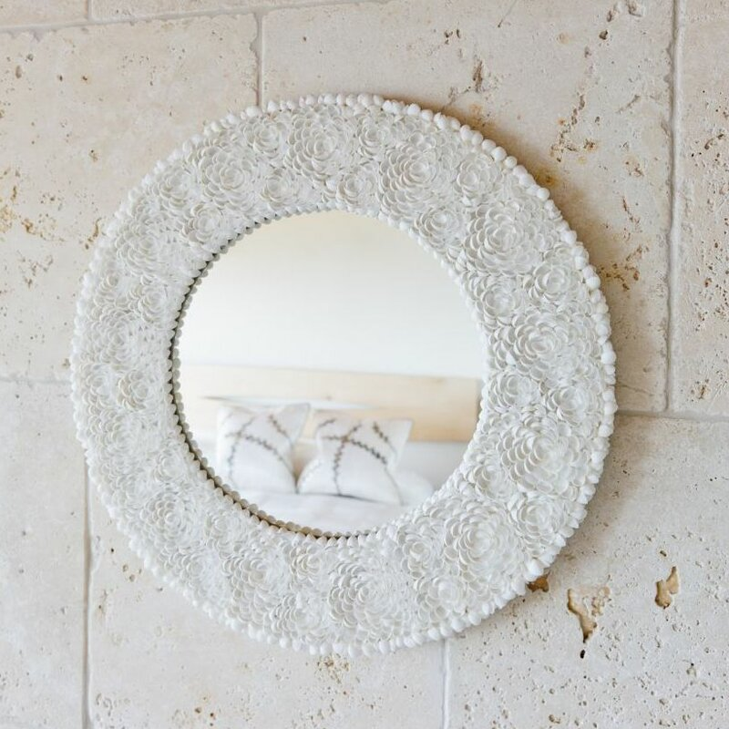 Clamrose Seashell Wall Mirror
