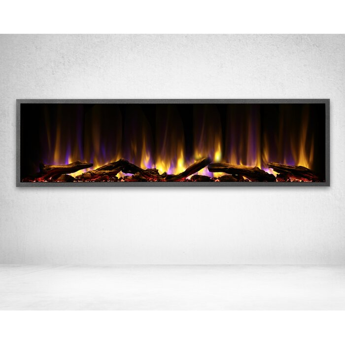 Liddel 45 Led Recessed Wall Mounted Electric Fireplace