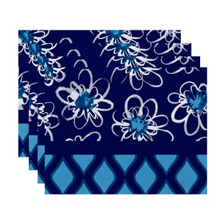 Trellis Geometric Print 14 Placemat (Set of 4) by The Holiday Aisle