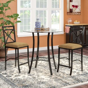 Saleh 3 Piece Counter Height Dining Set by Winston Porter