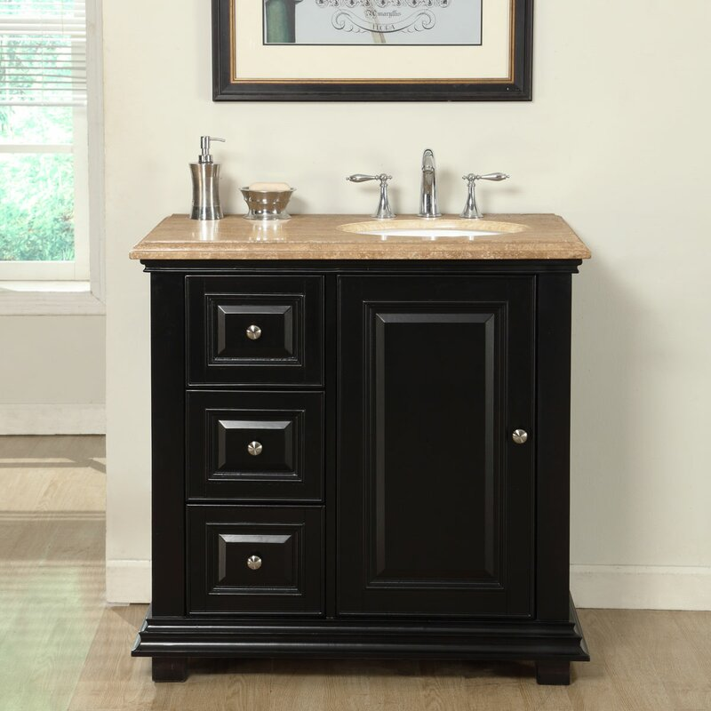 36  Single Bathroom Vanity Set with Sink on Right Side. Right Side Sink Vanity   Wayfair