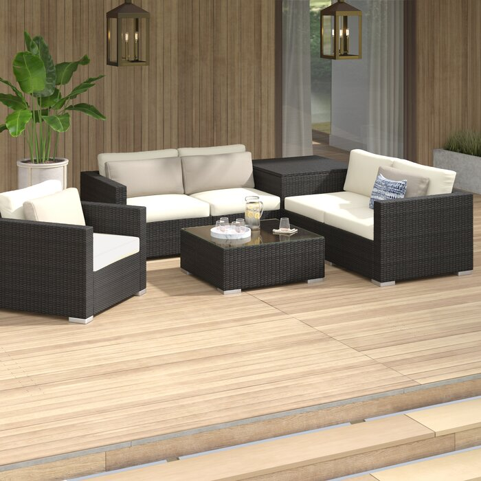 Stupendous Coast 11 Piece Rattan Sectional Seating Group With Cushions Unemploymentrelief Wooden Chair Designs For Living Room Unemploymentrelieforg