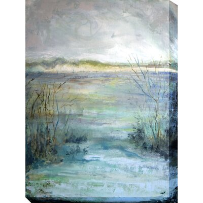 West of the Wind Outdoor Canvas Art All Weather 'Riverview' Painting Print on Wrapped Canvas
