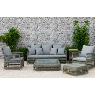 Bay Isle Home Fotau 6 Piece Rattan Sofa Set with Cushions