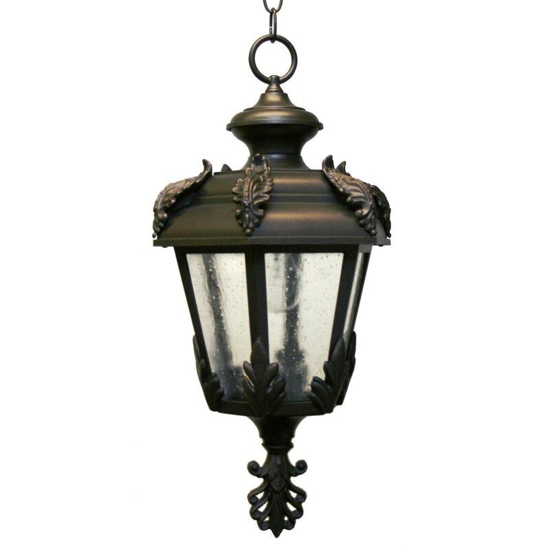 Alcott Hill Petrey 1 Bulb Outdoor Hanging Lantern Wayfair