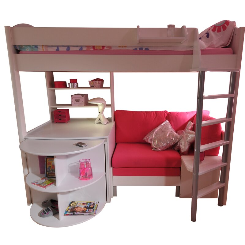 Casa European Single L Shaped Bunk Bed With Storage