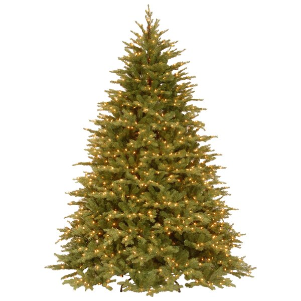 The Holiday Aisle Nordic 7.5' Green Spruce Artificial Christmas Tree with  1000 Clear Lights and Stand & Reviews | Wayfair - The Holiday Aisle Nordic 7.5' Green Spruce Artificial Christmas Tree