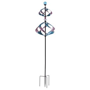 Butterfly Solar Metal Spinner Stake