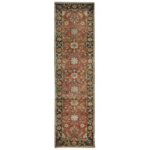 Affordable Price One-of-a-Kind Mahal Antique Handwoven Runner 2'9 x 9'11 Wool Red/Black Area Rug By Bokara Rug Co., Inc.