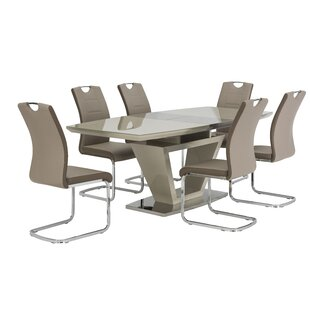 Arzola Dining Set With 6 Chairs By Wade Logan
