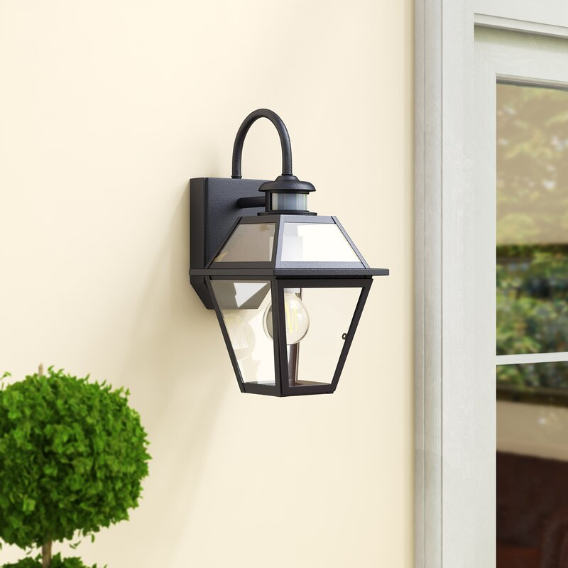 Darby Home Co Douglas Forge Outdoor Wall Lantern With Motion Sensor