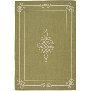 Octavius Green/Creme Indoor/Outdoor Area Rug