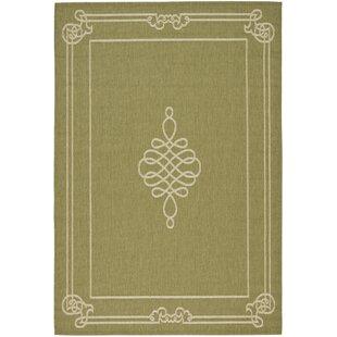 Octavius Green/Creme Indoor/Outdoor Area Rug